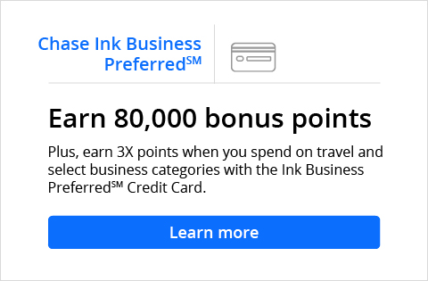 Chase Ink Business Preferred Earn 80 000 Bonus Points Plus 3x When